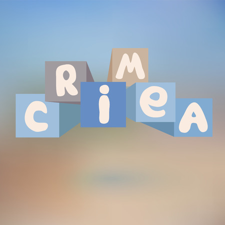 de focused: crimea. abstract blurred bakground. banner design. vector