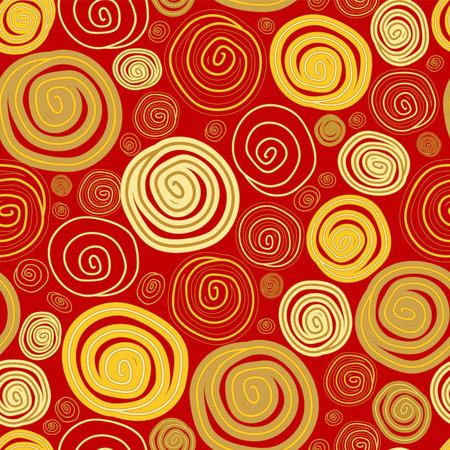 patern: seamless patern with gold abstract circle. vector