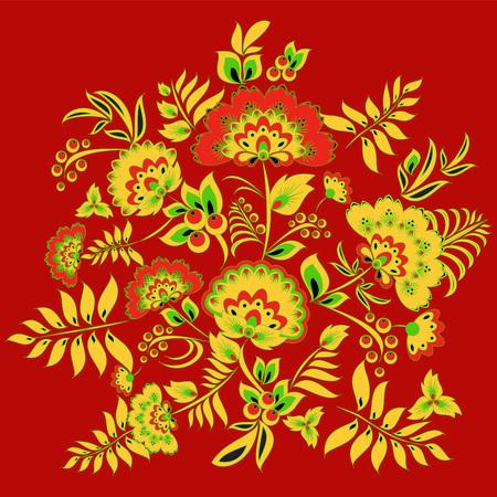 slavs: russian floral pattern. orient ornament