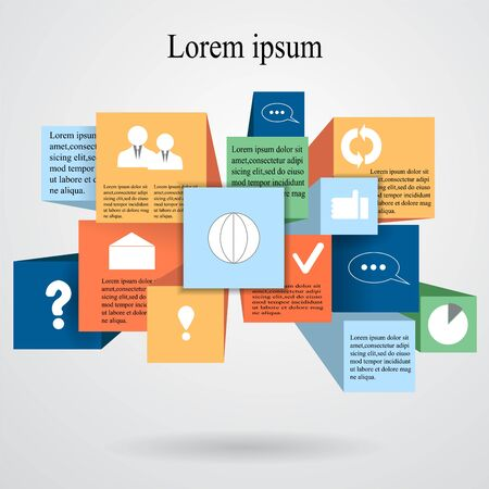 infographic elements. presentation Vector
