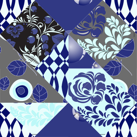 patchwork: russian seamless patchwork background