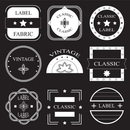 retro vintage insignias or logotypes set. vector design element