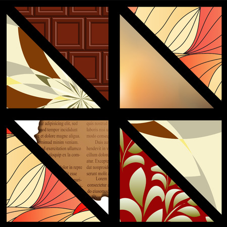 de focused: set of pattern. background. patchwork. banner design. illustration