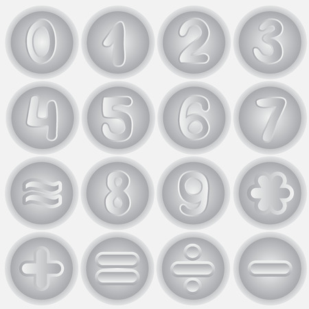 number set drawing. info graphics element. vector Vector