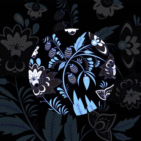 slavs: russian flower pattern. slavs. vector