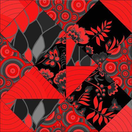 seamless russian pattern Vector
