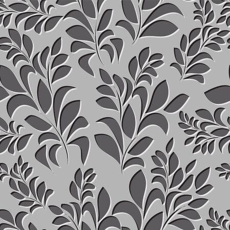 seamless spring background. leaf pattern. vector illustration