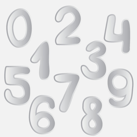 number set drawing. vector Vector