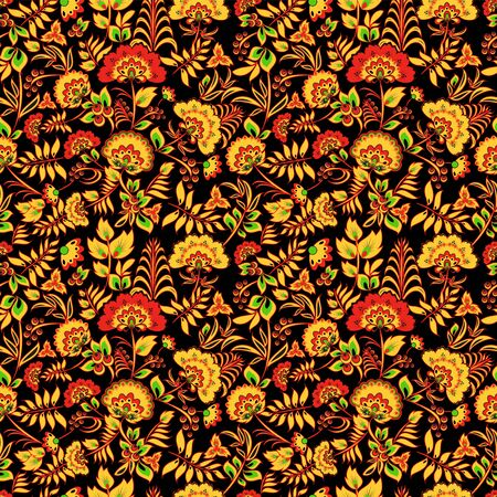 russian pattern: seamless russian pattern. background. vector