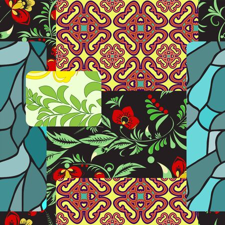 patchwork pattern: seamless patchwork pattern