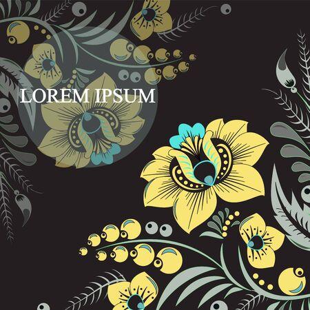 slavs: russian pattern background. vector Illustration