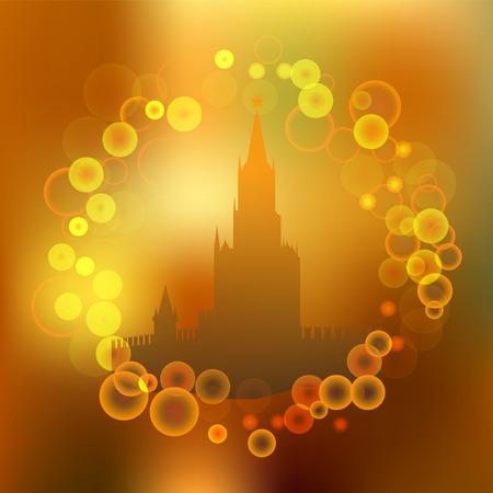 the kremlin: kremlin. moscow. blurred banner design. stock vector