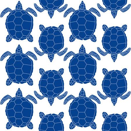 sea animal: seamless turtle, sea animal  design Illustration