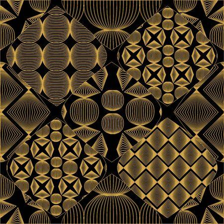 geometric shape: patr�n de mosaico sin fisuras con forma geom�trica