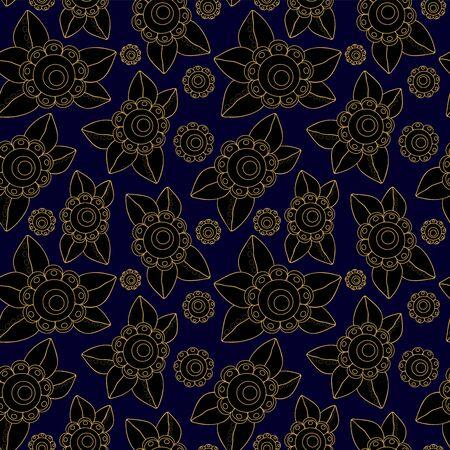 slavs: vector seamless russian flower pattern. slavs design