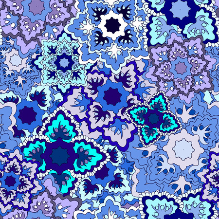 slavic: vector seamless texture with slavs flower. russia seamless pattern. summer template. Illustration