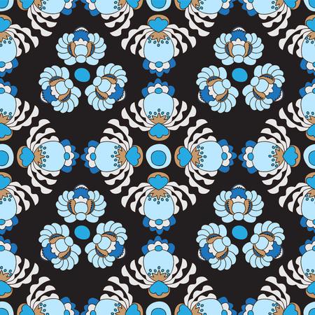 slavs: seamless russian or slavs pattern. vector background oriental design Illustration