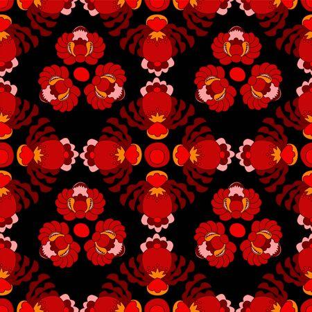 oriental vector: seamless russian or slavs pattern. vector background oriental design Illustration