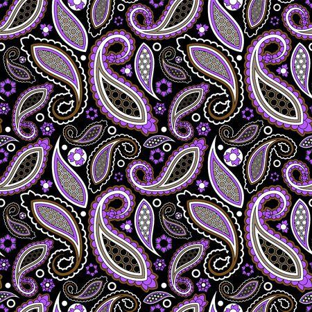 naadloze paisley patroon, oosterse bloem. voorraad vector Stock Illustratie