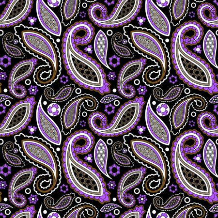 oriental vector: seamless paisley pattern, oriental flower. stock vector