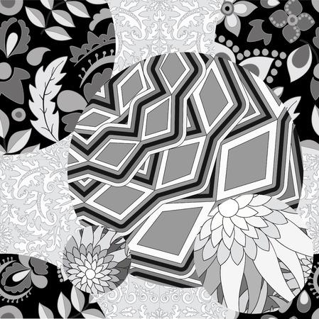 slavs: vector seamless patchwork pattern. slavs or russian design