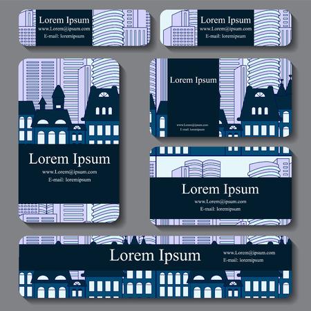 busines: stock vector set of busines card. decorative ornament. doodle design Illustration