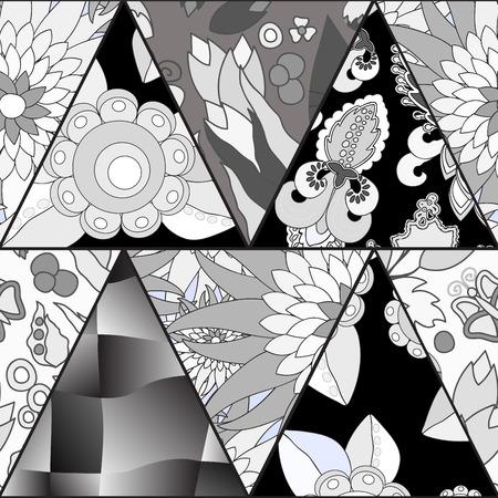 oriental vector: vector seamless patchwork pattern. oriental or russian design Illustration