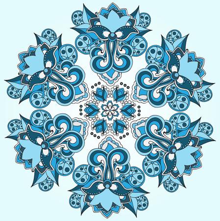 oriental vector: sock vector blue oriental or indian pattern. mandala