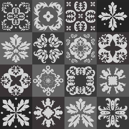 majolica: Seamless pattern majolica, arabic, indian, armenia. stock vector illustration Illustration