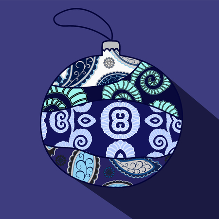 Christmas  isolated ball. Vector illustration