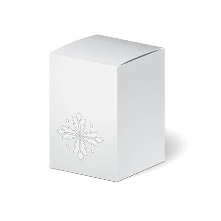 carboard box: carboard package isolated box on the white background. mosk up, template. stock vector