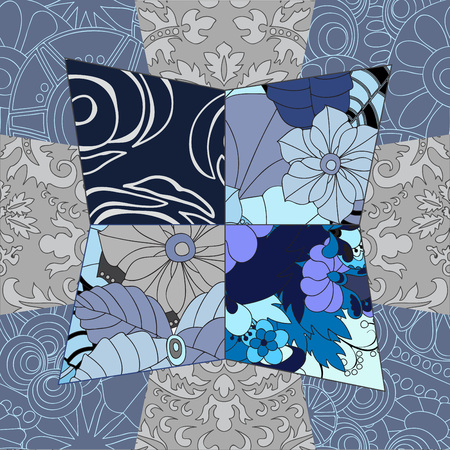 patchwork pattern: seamless patchwork pattern. oriental or russian design