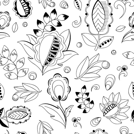 oriental vector: stock vector seamless oriental floral  doodle  pattern.