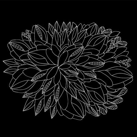 slavs: stock vector doodle pattern. black and white Illustration