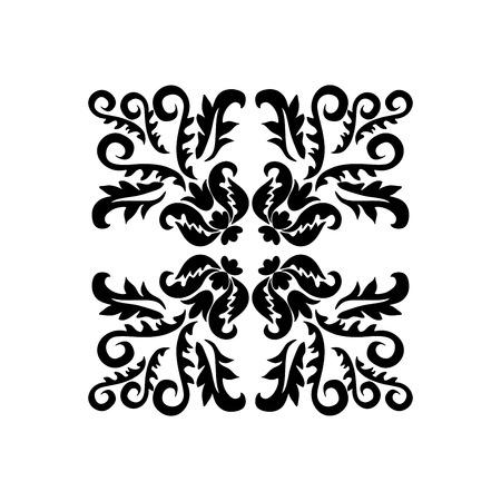 orient: stock orient floral pattern