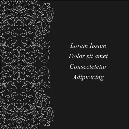 orient: stock orient floral pattern. card, brochure, invitation, template
