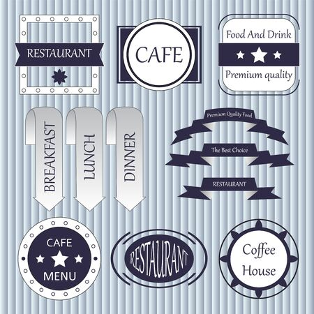 coffe break: stock vector set of label for restaurant and cafe Illustration