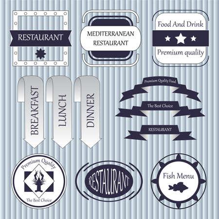 coffe break: stock vector set of label for restaurant and cafe Illustration