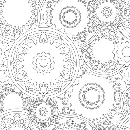 orient: stock vector seamless doodle floral pattern. orient. boho Illustration