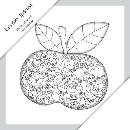 orient: card. poster, brochure template with oriental flower.  orient design. Illustration