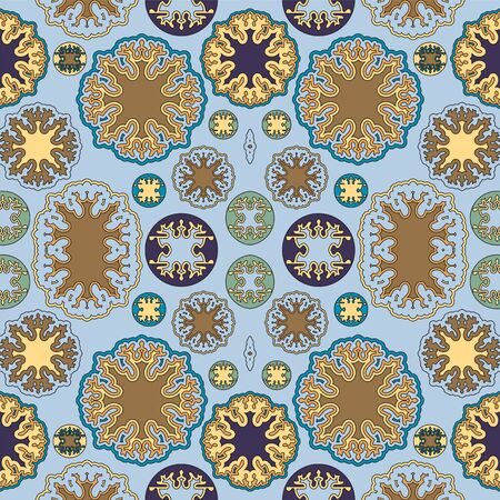 orient: stock vector seamless doodle floral pattern. orient.