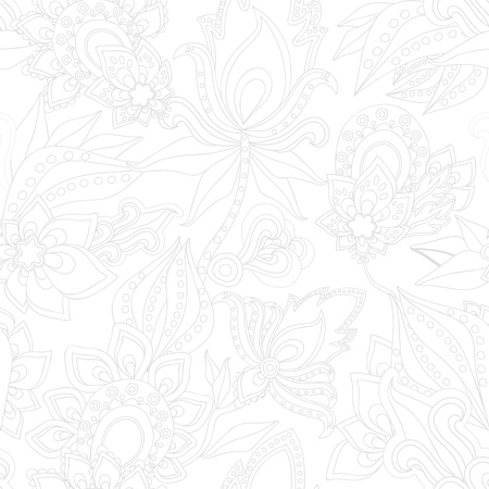 orient: stock vector abstract seamless paisley pattern. orient floral ornament Illustration