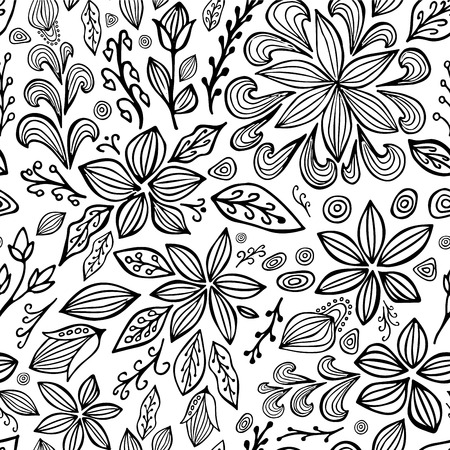 orient: stock vector abstract seamless  pattern. orient floral ornament