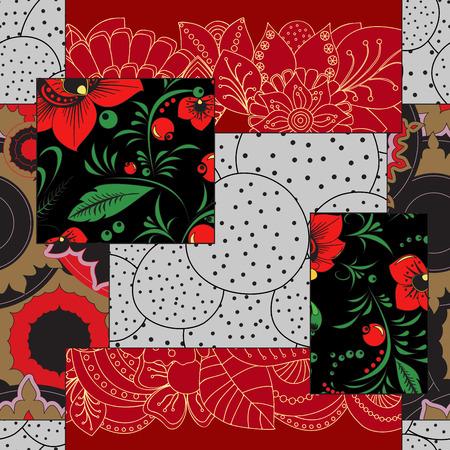 Mosaico abstracto sin fisuras con patcwork ornament.arabic floral o patrón Oriente. estilo vintage Foto de archivo - 68570747
