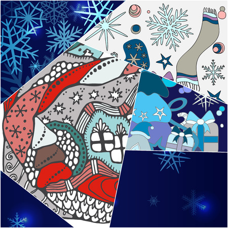 abstract seamless patchwork tile with christmasl ornament.vintage style