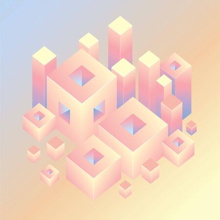 An abstract geometric background with square