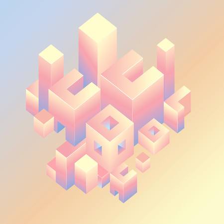 abstract geometric background with square Illustration