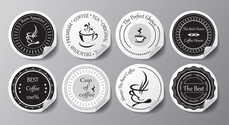 stock vector set of label for restaurant and cafe Foto de archivo - 110438859