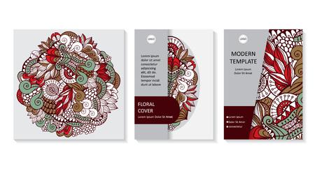 Stock vector art brochure template. layout design. corporate business report. mock up Foto de archivo - 110438880