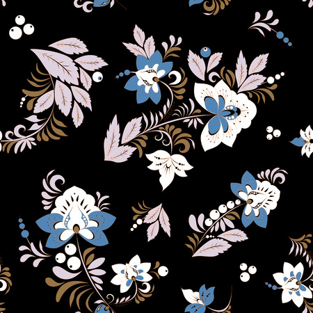 stock vector seamless flower, doodle pattern. abstract art background Foto de archivo - 127386032